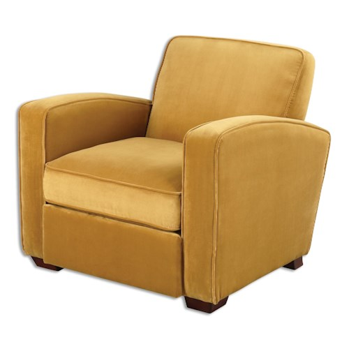 Uttermost Accent Furniture Somac Gold Armchair