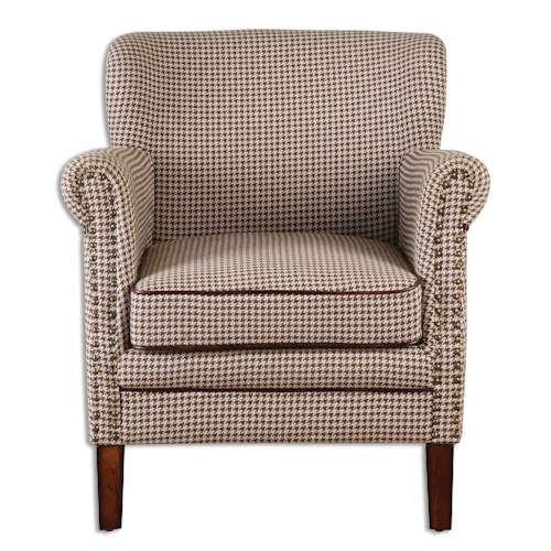 Uttermost Accent Furniture Tinsley Hounds-Tooth Club Chair