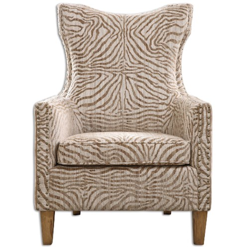 Uttermost Accent Furniture Kiango Animal Pattern Armchair