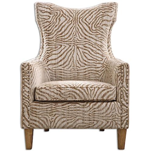 Uttermost Accent Furniture Kiango Animal Pattern Armchair