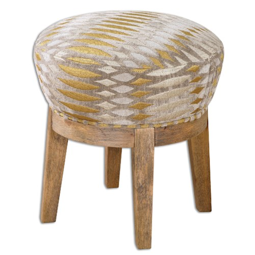 Uttermost Accent Furniture Hendrik Fabric Swivel Stool