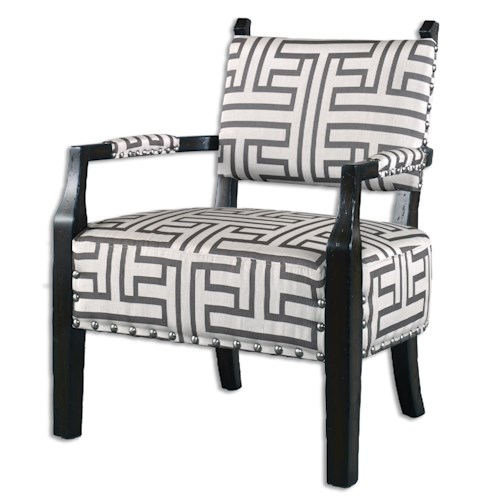 Uttermost Accent Furniture Terica Geometric Accent Chair