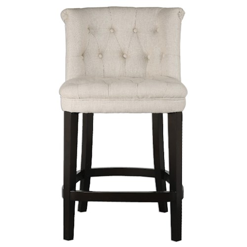 Uttermost Accent Furniture Kavanagh Tufted Counter Stool