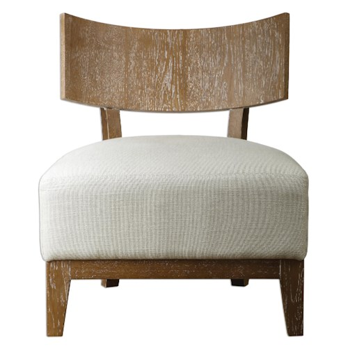 Uttermost Accent Furniture Gaige Oak Armless Chair