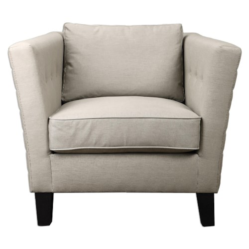 Uttermost Accent Furniture Izaak Modern Armchair