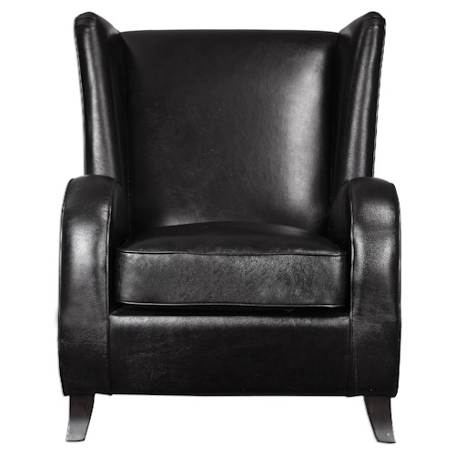 Uttermost Accent Furniture Lane Black Accent Chair
