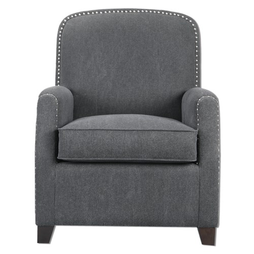 Uttermost Accent Furniture Domicia Gray Armchair