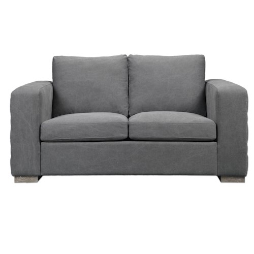 Uttermost Accent Furniture Inari Stonewashed Gray Loveseat
