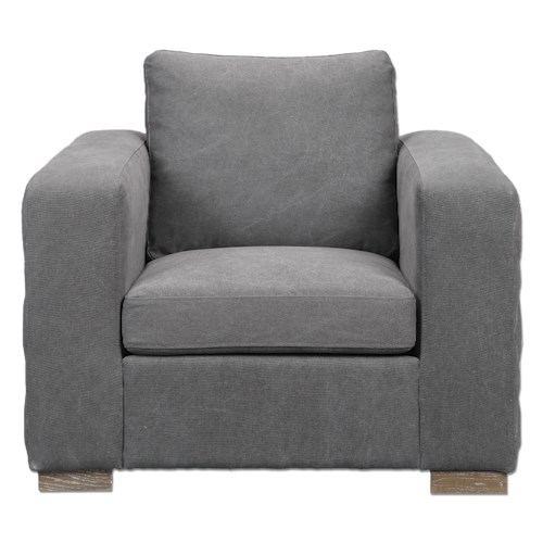 Uttermost Accent Furniture Inari Stonewashed Gray Armchair