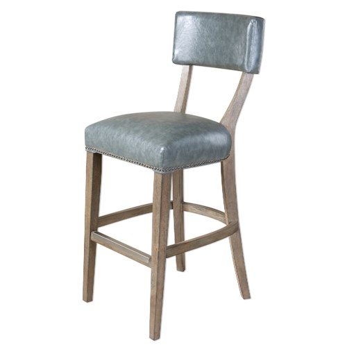 Uttermost Accent Furniture Lekan Stony Gray Bar Stool