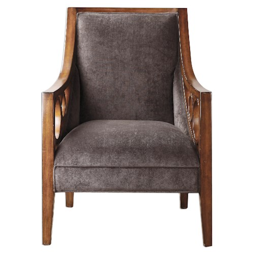 Uttermost Accent Furniture Maclean Brown Armchair