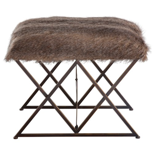 Uttermost Accent Furniture Brannen Plush Small Bench