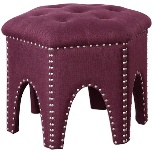 Uttermost Accent Furniture Pippa Purple Small Stool