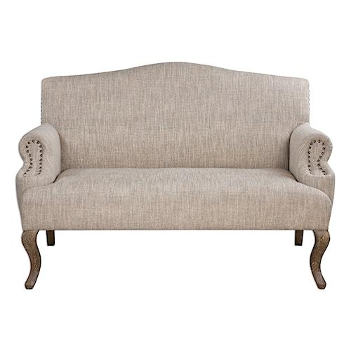 Uttermost Accent Furniture Rigina Soft Tan Loveseat