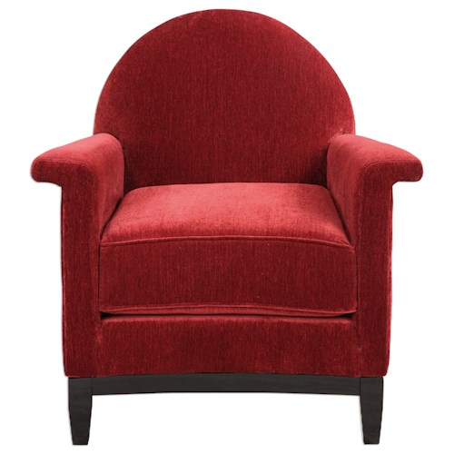 Uttermost Accent Furniture Sheelah Cherry Red Accent Chair