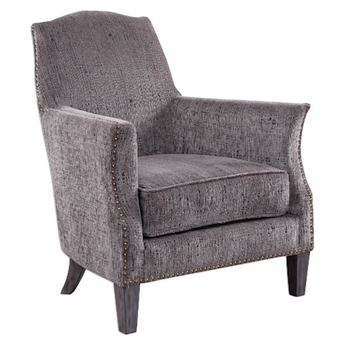 Uttermost Accent Furniture Dermot Soft Gray Accent Chair