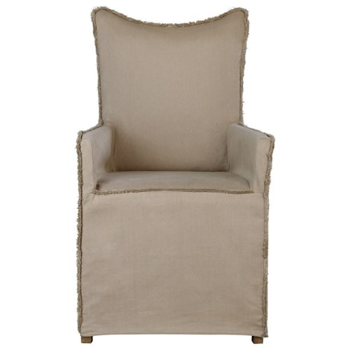 Uttermost Accent Furniture Accent Armchair with Slipcover