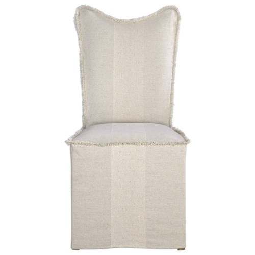 Uttermost Accent Furniture Armless Accent Chair with Slipcover