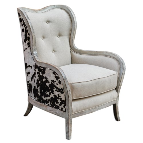 Uttermost Accent Furniture Chalina High Back Arm Chair
