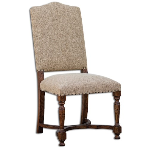Uttermost Accent Furniture Pierson Textured Linen Accent Chair