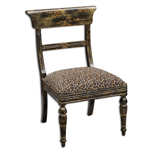 Uttermost Accent Furniture Tambra Leopard Print Accent Chair