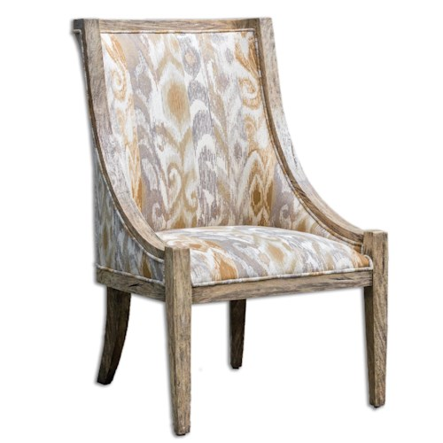 Uttermost Accent Furniture Alabaster Driftwood Accent Chair
