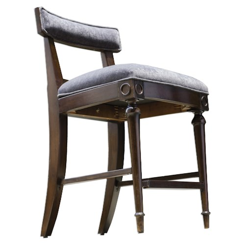 Uttermost Accent Furniture Nicandro Antique Hickory Counter Stool
