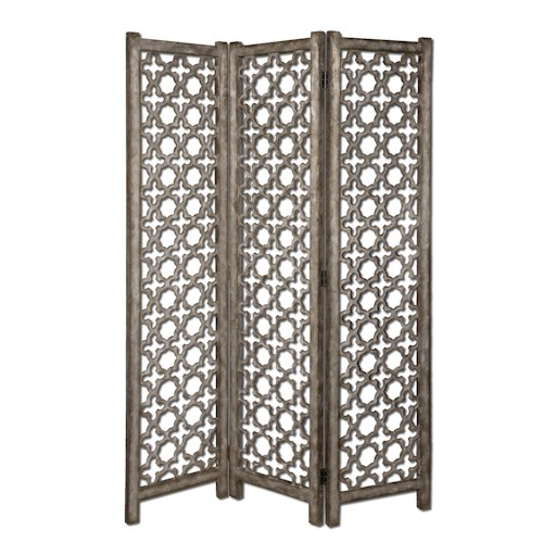 Uttermost Accent Furniture Quatrefoil Floor Screen