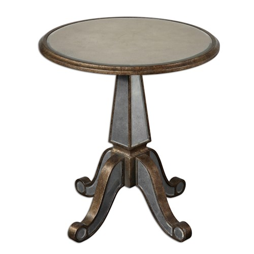 Uttermost Accent Furniture Eraman Mirror Face Accent Table