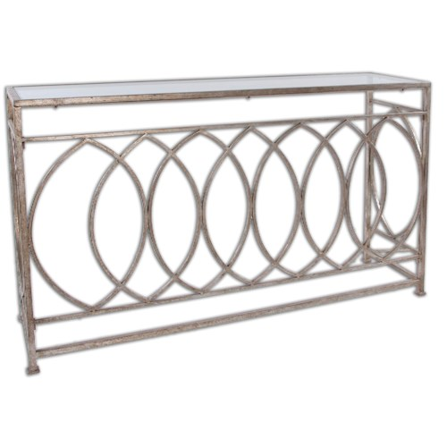 Uttermost Accent Furniture Aniya Glass Top Console Table