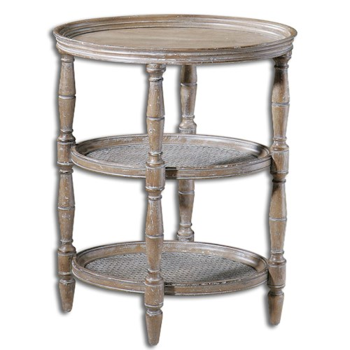 Uttermost Accent Furniture Kendellen Antique Accent Table