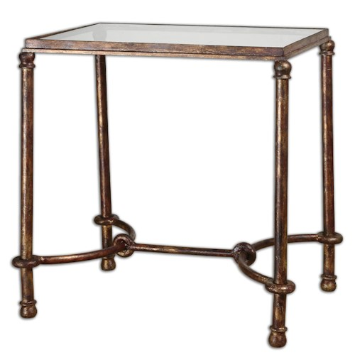 Uttermost Accent Furniture Warring Iron End Table