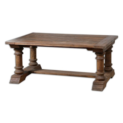 Uttermost Accent Furniture Saturia Wooden Coffee Table