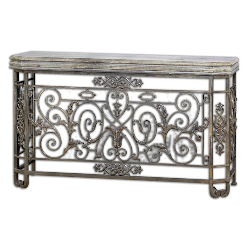 Uttermost Accent Furniture Kissara Metal Console Table