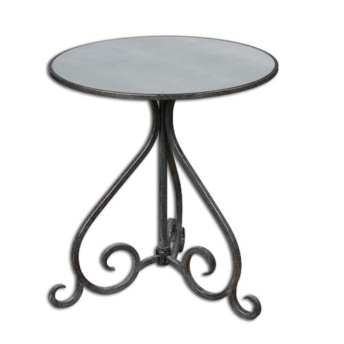 Uttermost Accent Furniture Poloa Mirrored Accent Table