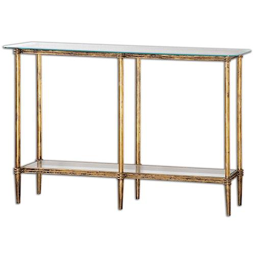 Uttermost Accent Furniture Elenio Glass Console Table