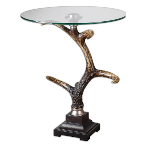 Uttermost Accent Furniture Stag Horn Accent Table