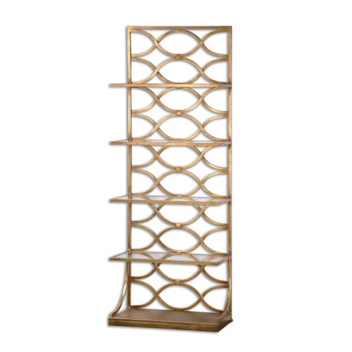 Uttermost Accent Furniture Lashaya Gold Etagere