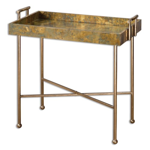 Uttermost Accent Furniture Couper Oxidized Tray Table