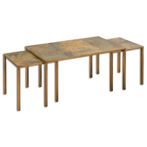 Uttermost Accent Furniture Couper Oxidized Nesting Coffee Tables Set/3
