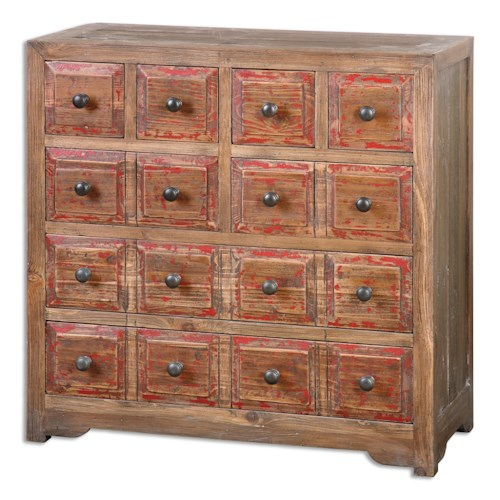 Uttermost Accent Furniture Rylee Weathered Drawer Chest