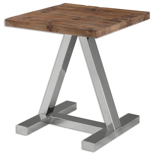 Uttermost Accent Furniture Hesperos Wooden Side Table