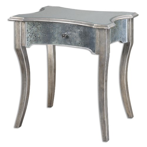 Uttermost Accent Furniture Jovannie Mirrored Accent Table