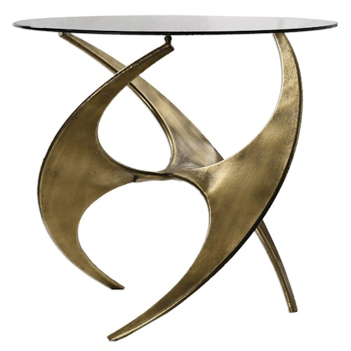 Uttermost Accent Furniture Graciano Glass Accent Table