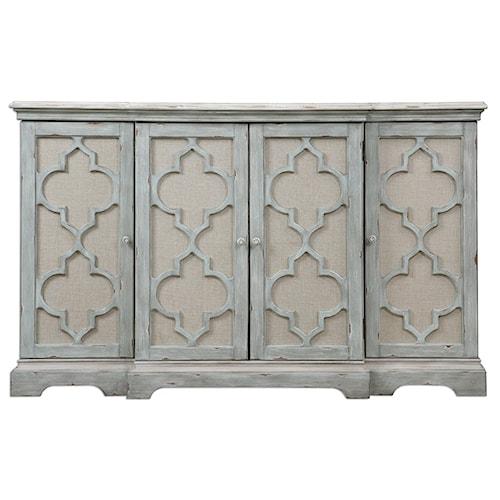 Uttermost Accent Furniture Sophie 4 Door Grey Cabinet