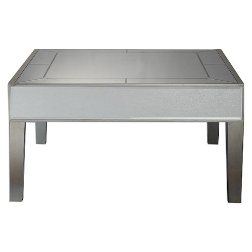 Uttermost Accent Furniture Enrikos Mirrored Coffee Table
