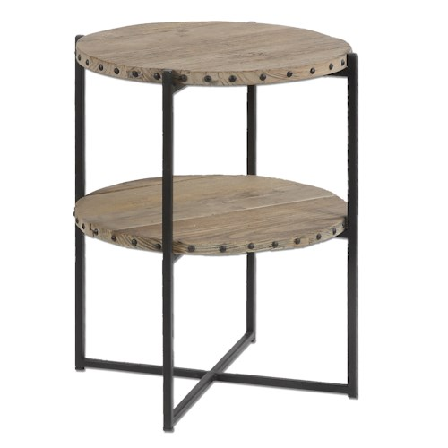 Uttermost Accent Furniture Kamau Round Accent Table