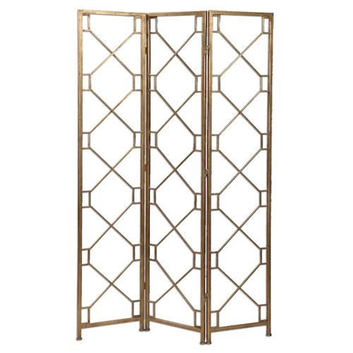 Uttermost Accent Furniture Lakaya Gold 3 Panel Screen