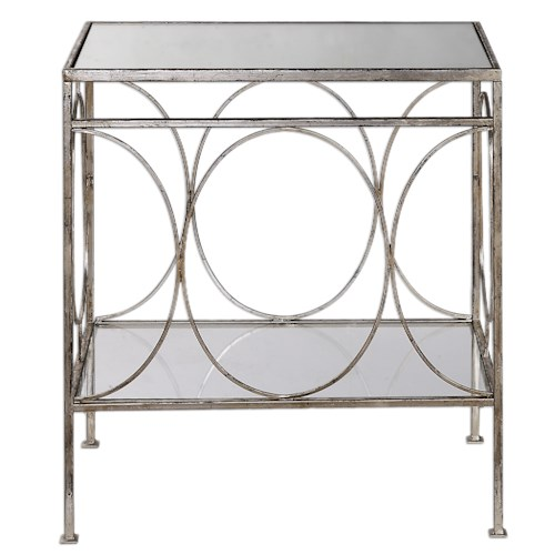 Uttermost Accent Furniture Luano Silver End Table