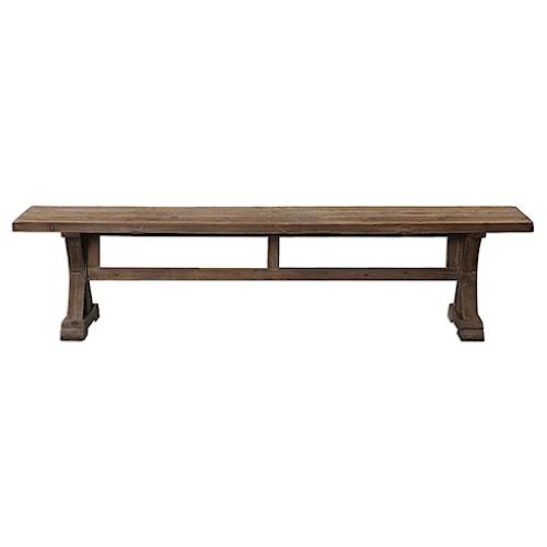Uttermost Accent Furniture Stratford Salvaged Wood Bench
